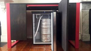 Welcoming the arrival of the MMR beer keg, Barry!
