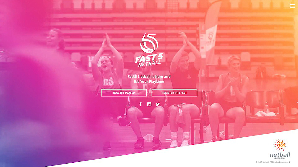 New website design for netball by MMR